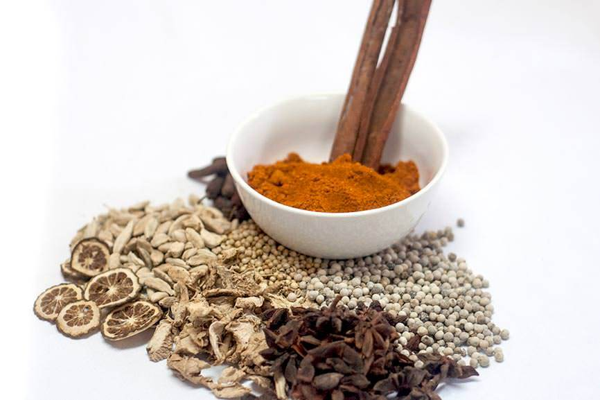 Ayurvedic ingredients side