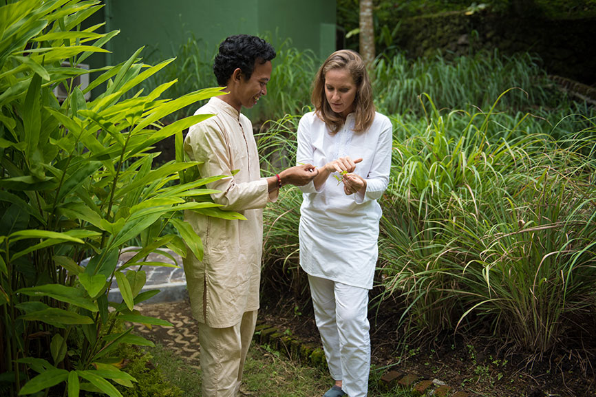 Herbal walk at ONEWORLD Ayurveda Bali
